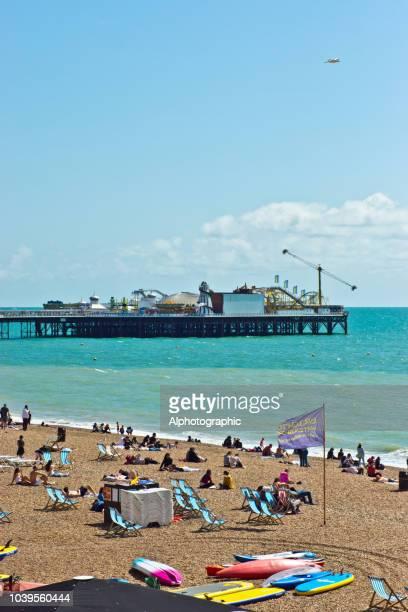 Brighton Beach capanne Dorset Inghilterra fotografia foto stampa