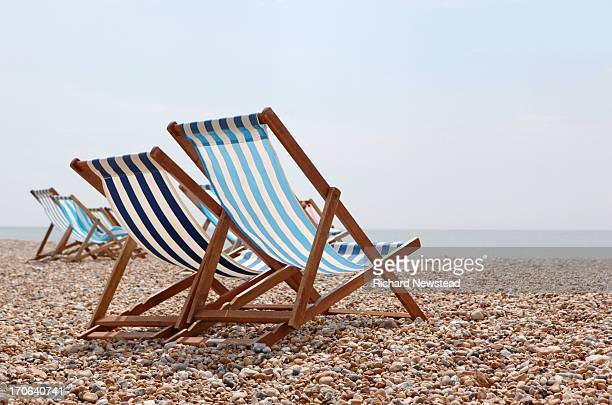 Deck Chairs on Beach