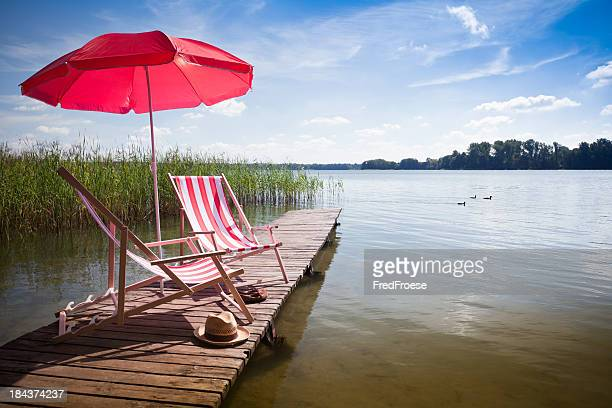 Deck Chairs on jetty