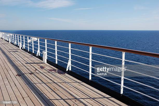 deck of a cruise ship - deck stock pictures, royalty-free photos & images