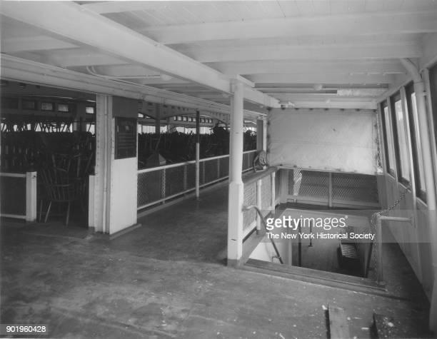 Deck of a ferry New York Harbor New York New York 1929
