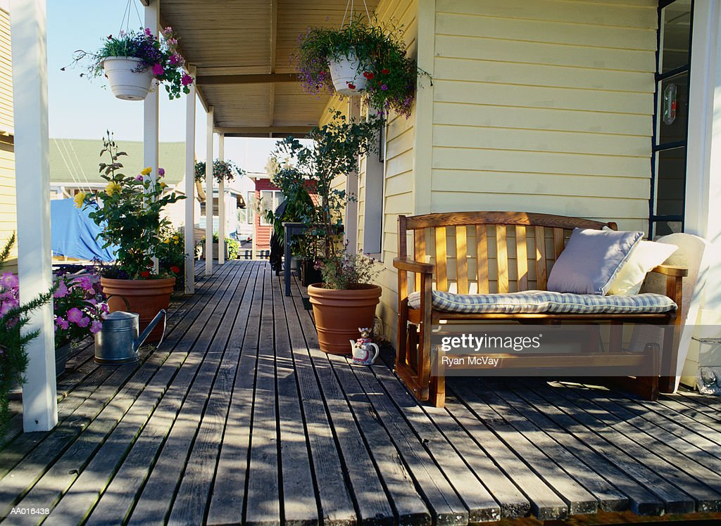 Deck of a Houseboat : Stock Photo