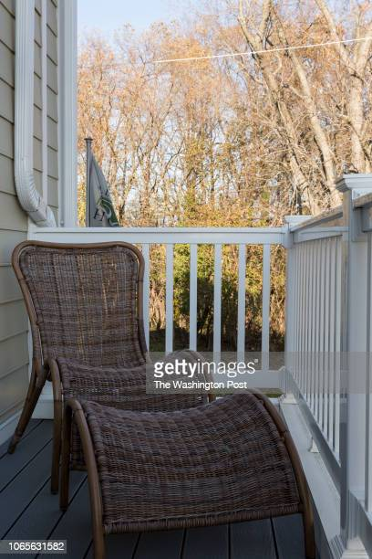 Deck of the Main Level in the model home at Annapolis Townes on November 20 2018 in Annapolis Maryland
