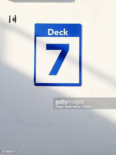 Deck sign on a ship