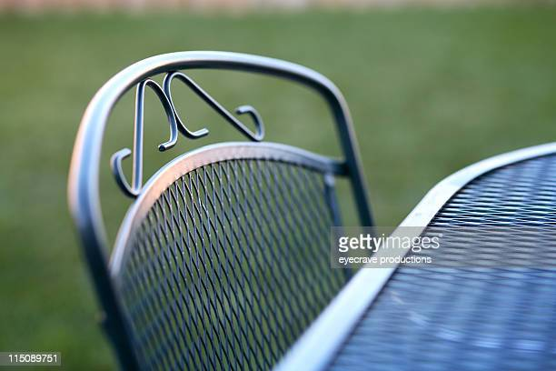 deck table chair scene - wire mesh stock pictures, royalty-free photos & images