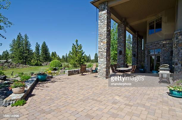 deck with a view - patio stock pictures, royalty-free photos & images