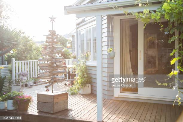Deck with creative Christmas tree