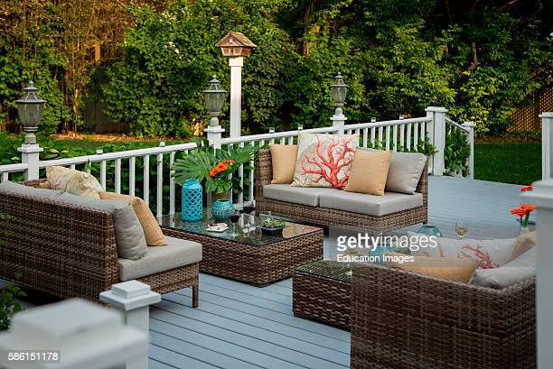 Deck with furniture in Long Island Shelter Island Inn Shelter Island NY