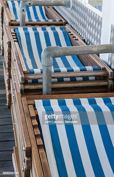 Deckchairs stacked
