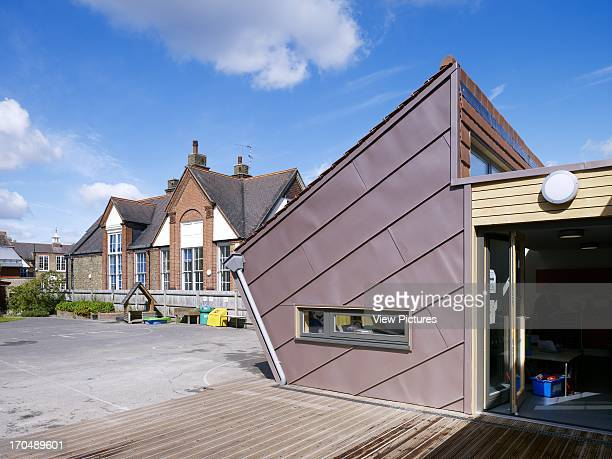 Decking view of extension Dulwich Village Infant School London United Kingdom Architect Cazenove Architects 2012
