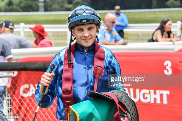 Declan Bates after winning the Prestige Jayco Maiden Plate at Colac Racecourse on December 16 2017 in Colac Australia