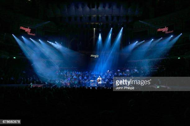 Declan Bennett performs excerpts from 'Jesus Christ Superstar' on stage during 'Magic at the Musicals' at The Royal Albert Hall on May 4 2017 in...