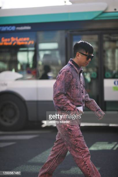 Declan Chan before Berlutti on January 17, 2020 in Paris, France.