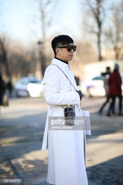 Declan Chan before Chanel Haute Couture Show on January 21, 2020 in Paris, France.