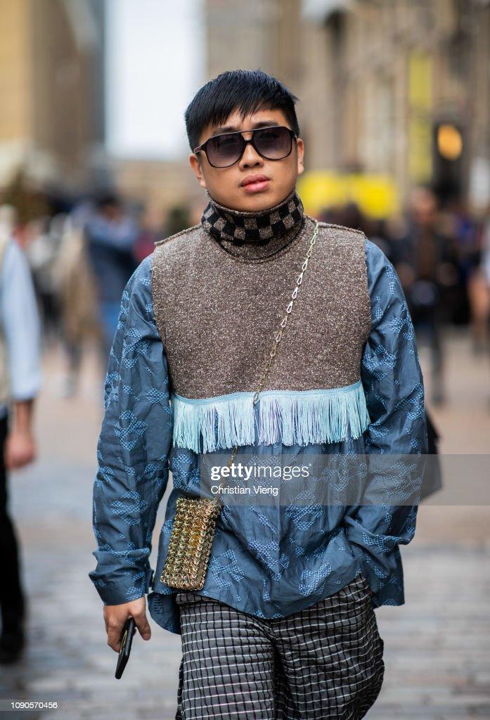 Declan Chan Is Seen During London Fashion Week Men S January 2019 On