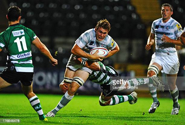 Declan Danaher of London Irish in action during the pre season friendly match between Nottingham Rugby and London Irish at Meadow Lane on August 16...