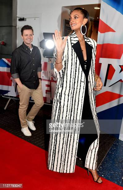 Declan Donnelly and Alesha Dixon during the 'Britain's Got Talent' Manchester photocall at The Lowry on February 06 2019 in Manchester England