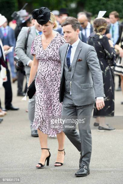 Declan Donnelly and Ali Astall attend day 2 of Royal Ascot at Ascot Racecourse on June 19 2018 in Ascot England