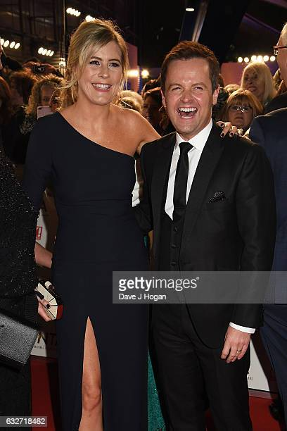 Declan Donnelly and Ali Astall attend the National Television Awards at Cineworld 02 Arena on January 25 2017 in London England