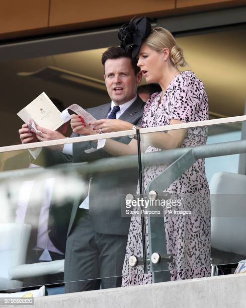 Declan Donnelly and Ali Astall during day two of Royal Ascot at Ascot Racecourse