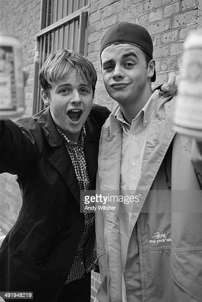 Declan Donnelly and Anthony McPartlin of pop music duo PJ And Duncan circa 1995 They later became known as TV presenters Ant Dec