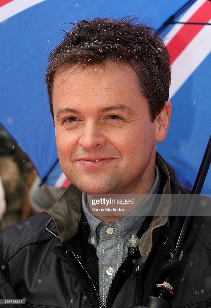 Declan Donnelly arrive for the London judges auditions for 'Britain's Got Talent' at London Palladium on January 20, 2013 in London, England.