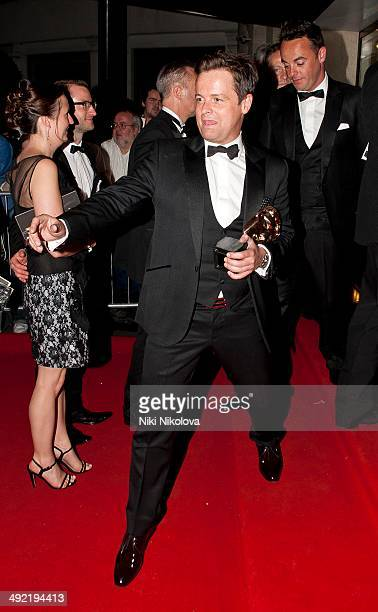 Declan Donnelly arrives at the Arqiva British Academy Television Awards after party held at the Grosvenor house Park Lane on May 18 2014 in London...