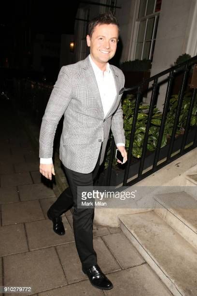Declan Donnelly at 34 restaurant for Richard Holloways leaving party on January 25 2018 in London England