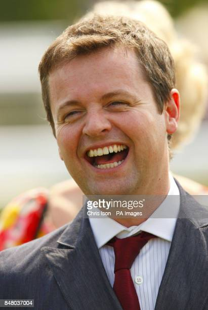 Declan Donnelly at Goodwood with Anthony McPartlin before jockey Hayley Turner rode their horse Primaeval to victory in the Wright Joinery Company...