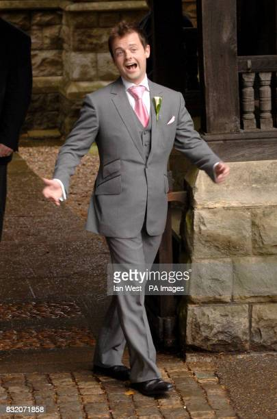 Declan Donnelly at the wedding of Ant McParlin and Lisa Armstrong at StNicholas Church in Taplow Buckinghamshire