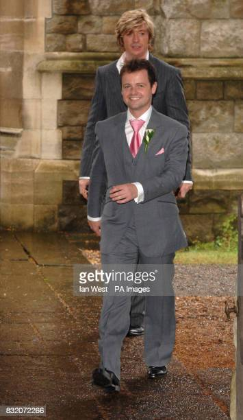 Declan Donnelly at the wedding of Ant McParlin and Lisa Armstrong at StNicholas Church in Taplow Buckinghamshire Picture date Saturday July 22 2006...