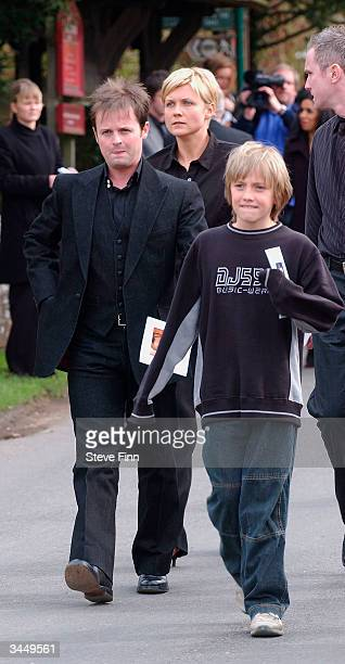 Declan Donnelly leaves the Funeral of Caron Keating following her death from breast cancer last week at Hever Church in Edenbridge on April 20 2004...