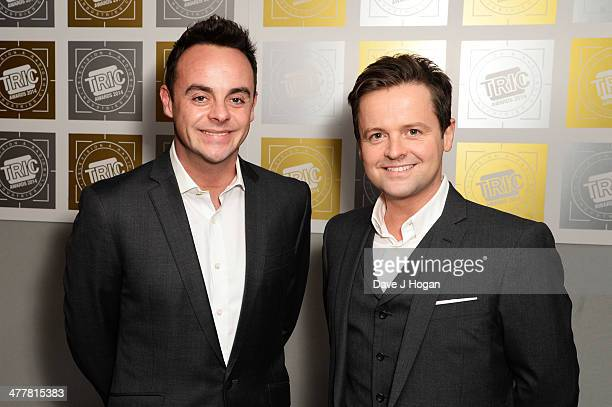 Declan Donnolly and Anthony McPartlin attends the TRIC awards 2014 at the Grosvenor House Hotel on March 11 2014 in London England