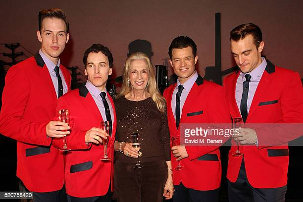 Declan Egan Matt Corner Lady Colin Campbell Simon Bailey and Matt Hunt following the 8th anniversary gala performance of Jersey Boys at the...