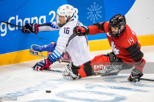 Declan FARMER and Steve ARSENAULT during The Ice Hockey gold medal game between Canada and United States during day nine of the PyeongChang 2018...