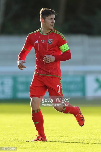 Declan John of Wales U21 during the UEFA U21 Championship Qualifier between Wales and Armenia at Nantporth on November 13 2015 in Bangor Wales