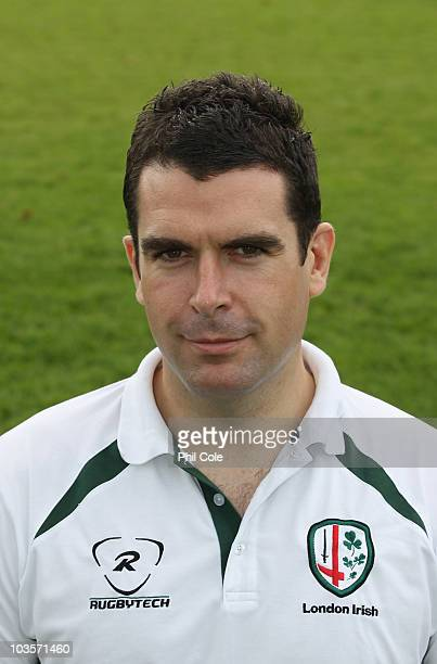 Declan Lynch of London Irish during a Photocall at their the Avenue training ground on August 24 2010 in SunburyonThames England
