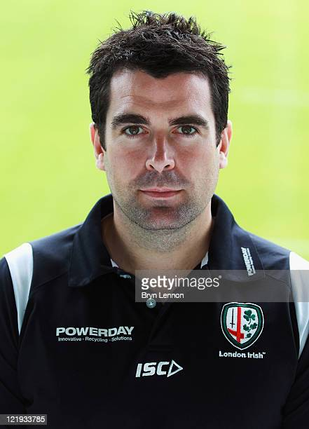 Declan Lynch of London Irish poses for a portrait during a London Irish Photocall on August 23 2011 in SunburyonThames England