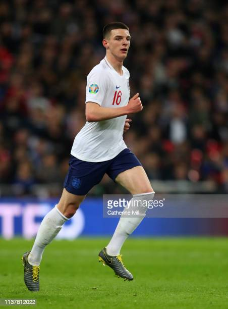 Declan Rice of England during the 2020 UEFA European Championships Group A qualifying match between England and Czech Republic at Wembley Stadium on...