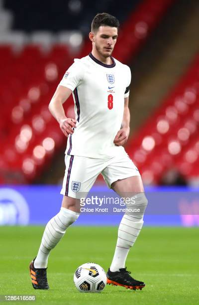Declan Rice of England during the UEFA Nations League group stage match between England and Iceland at Wembley Stadium on November 18, 2020 in...