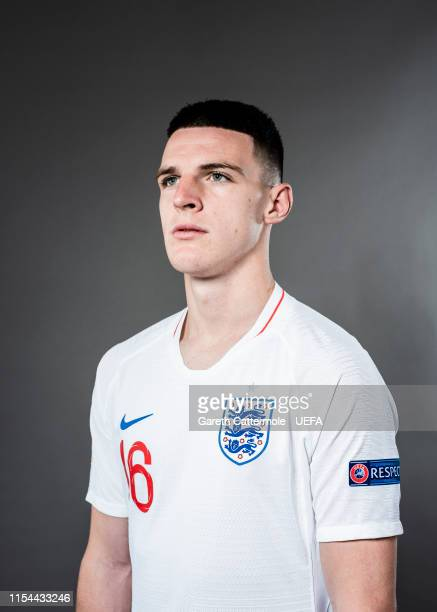 Declan Rice of England poses for a portrait at St Georges Park on June 04 2019 in BurtonuponTrent England