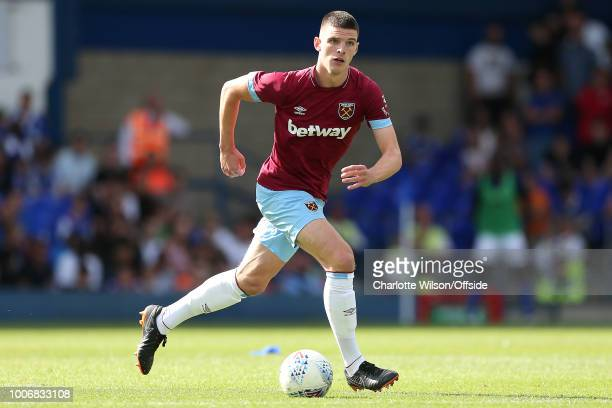 Declan Rice of West Ham during the PreSeason Friendly match between Ipswich Town and West Ham United at Portman Road on July 28 2018 in Ipswich...