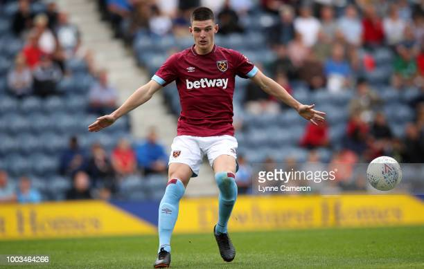 Declan Rice of West Ham United during the PreSeason Friendly between Preston North End and West Ham United at Deepdale on July 21 2018 in Preston...