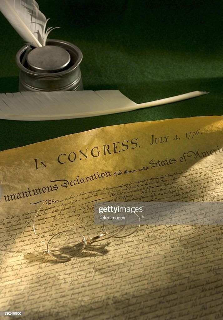Declaration of Independence of the United States : Stock Photo