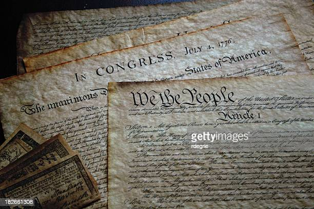 declaration of independence - us constitution stock pictures, royalty-free photos & images