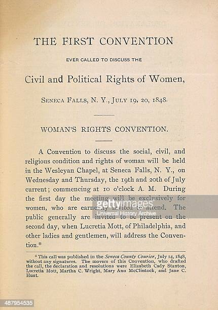 Declaration of Sentiments 1848 First Convention Ever Called to Discuss the Civil and Political Rights of Women Seneca Falls New York July 19 1848...
