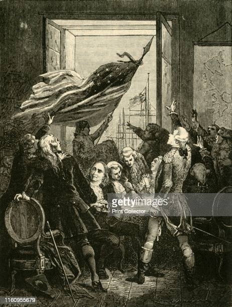 'Declaration of the Independence of the United States', , 1890. United States Declaration of Independence, 1776 at Pennsylvania State House in...