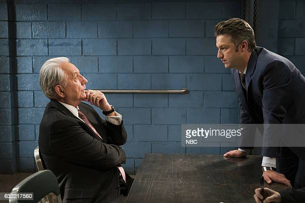 UNIT Decline and Fall Episode 1809 Pictured Bob Gunton as Lawrence Hendricks Sr Peter Scanavino as Dominick Sonny Carisi