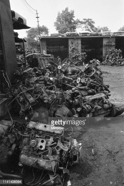 Decline of Motor Industry in New York USA 18th July 1980 pictured Cars on scrap heap in New York