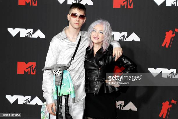 Declyn Lauper Thornton and Cyndi Lauper attend the 2021 MTV Video Music Awards at Barclays Center on September 12, 2021 in the Brooklyn borough of...